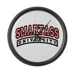 SMART ASS UNIVERSITY Large Wall Clock