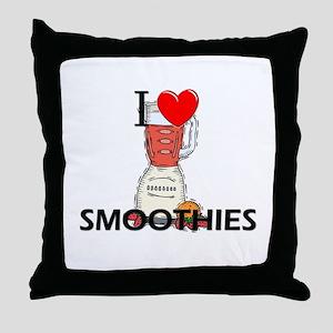 I Love Smoothies Throw Pillow