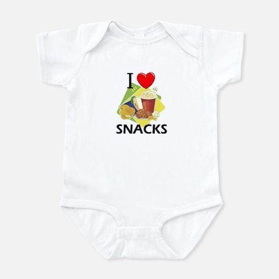 I Love Snacks Infant Bodysuit