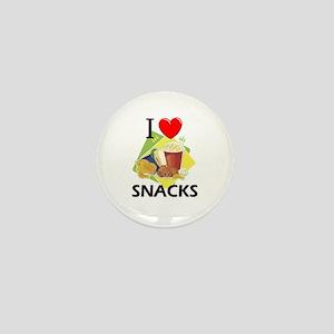 I Love Snacks Mini Button
