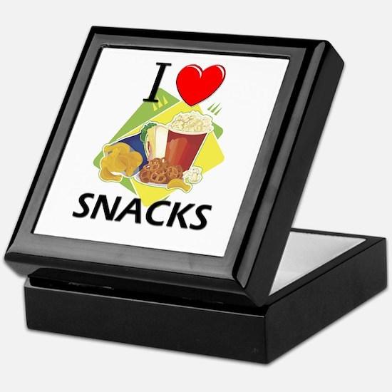 I Love Snacks Keepsake Box