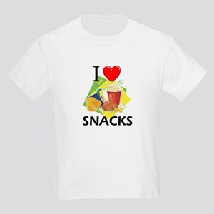 I Love Snacks Kids Light T-Shirt