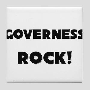 Governess ROCK Tile Coaster
