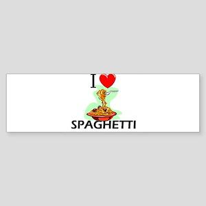 I Love Spaghetti Bumper Sticker