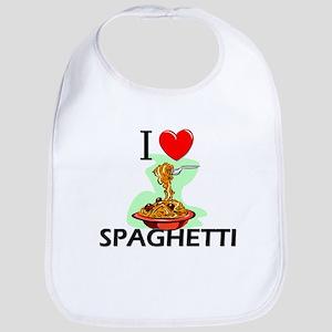 I Love Spaghetti Bib