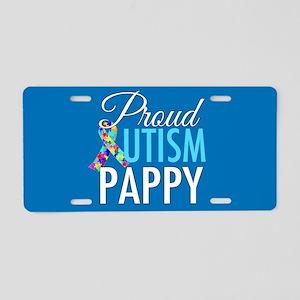 Autism Pappy Aluminum License Plate