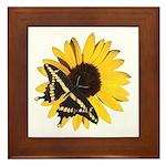 Giant Swallowtail Butterfly/Sunflower Framed Tile