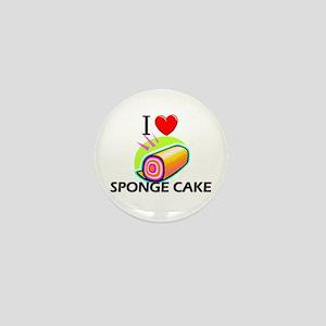 I Love Sponge Cake Mini Button