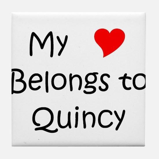 Funny My heart belongs roseanne Tile Coaster