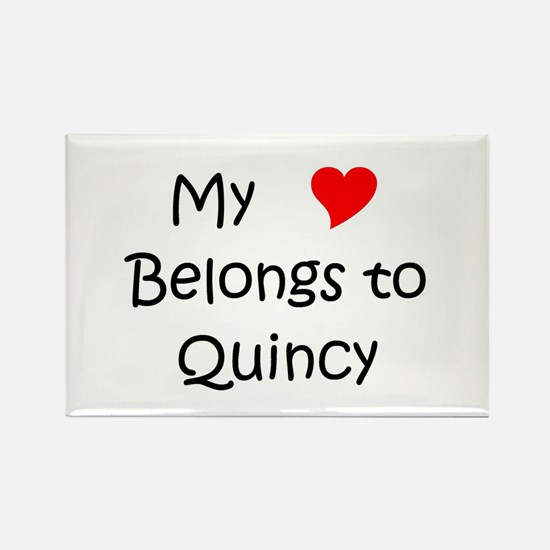 Cute Quincy Rectangle Magnet
