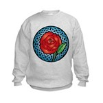 Celtic Rose Stained Glass Kids Sweatshirt