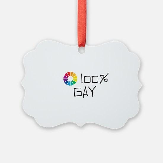 100% Gay Ornament