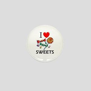 I Love Sweets Mini Button