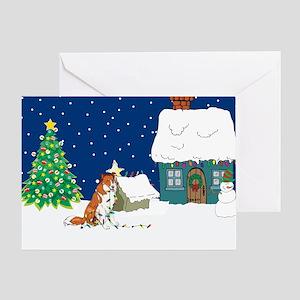 Christmas Lights Collie Greeting Card