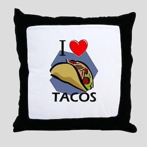 I Love Tacos Throw Pillow