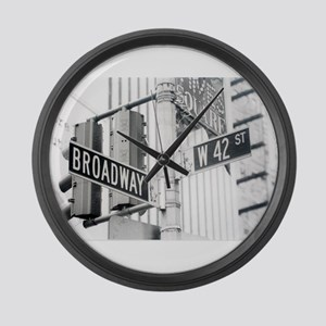 NY Broadway Times Square - Large Wall Clock