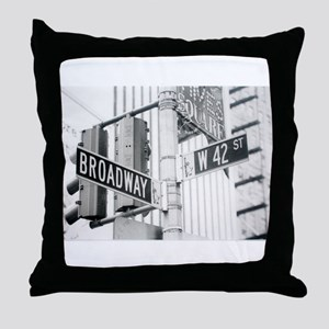 NY Broadway Times Square - Throw Pillow