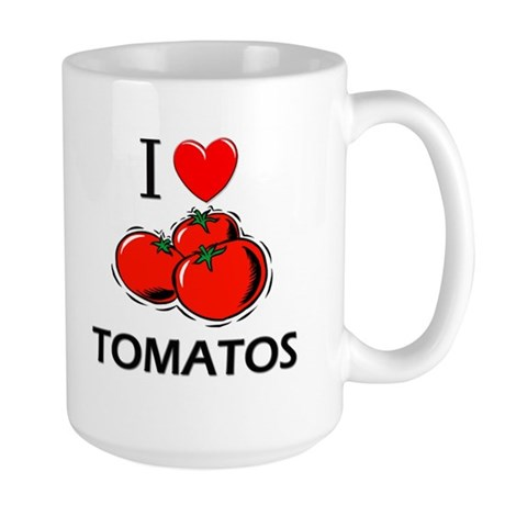 I Love Tomatos Large Mug
