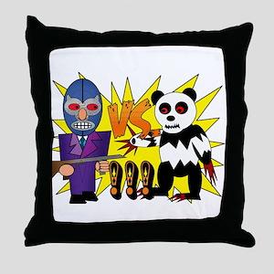 Gilberto vs. Panda Throw Pillow