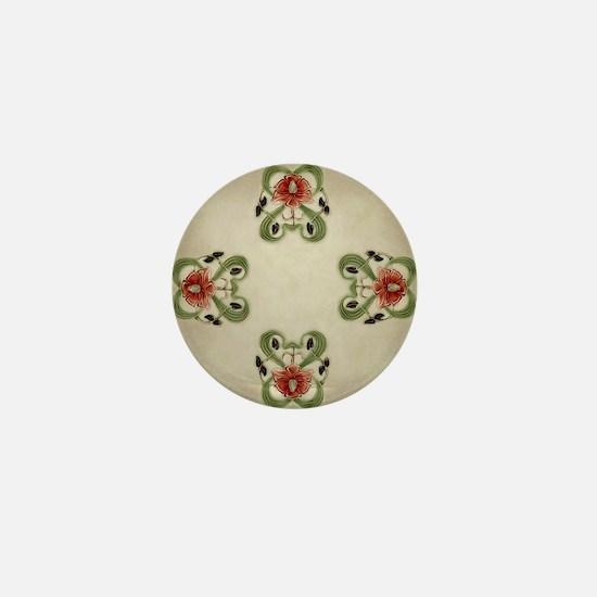 Victorian Roses Mini Button
