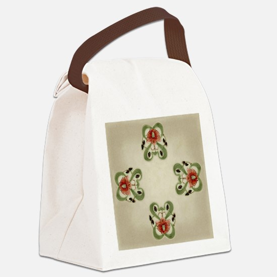 Victorian Roses Canvas Lunch Bag