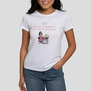 QA Saving Civilization Women's T-Shirt