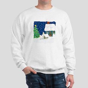 Christmas Lights Bichon Frise Sweatshirt