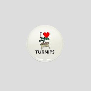 I Love Turnips Mini Button