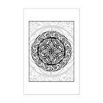 Celtic Shield Mini Poster Print