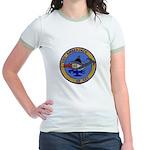 USS AMBERJACK Jr. Ringer T-Shirt