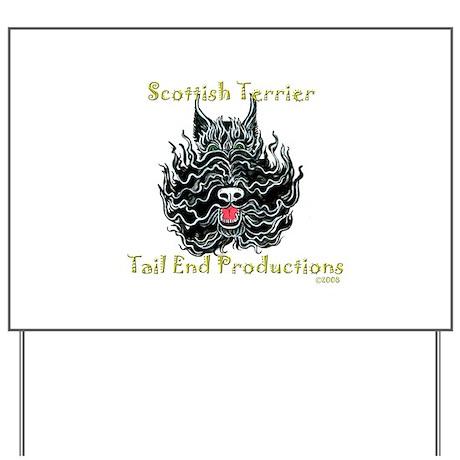 Scottish Terrier Tattoo Art Yard Sign