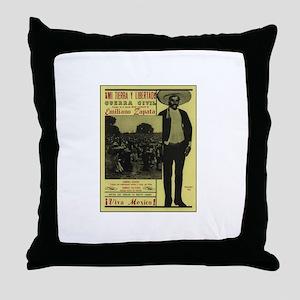 Emiliano Zapata Poster Throw Pillow