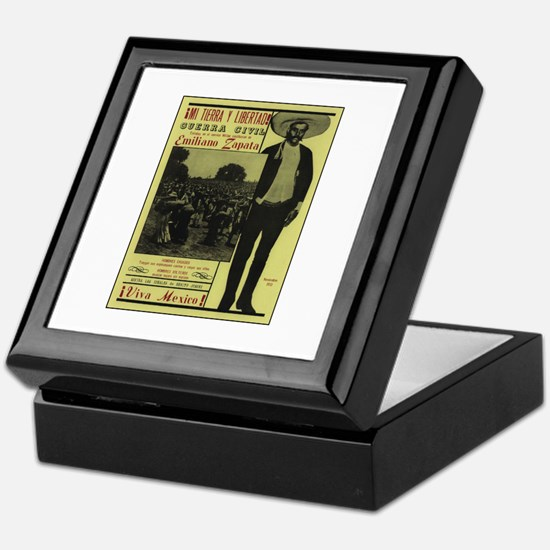 Emiliano Zapata Poster Keepsake Box