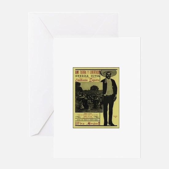 Emiliano Zapata Poster Greeting Card