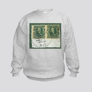 1908 Stamps Kids Sweatshirt