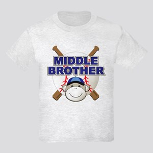 Middle Brother Baseball Kids Light T-Shirt