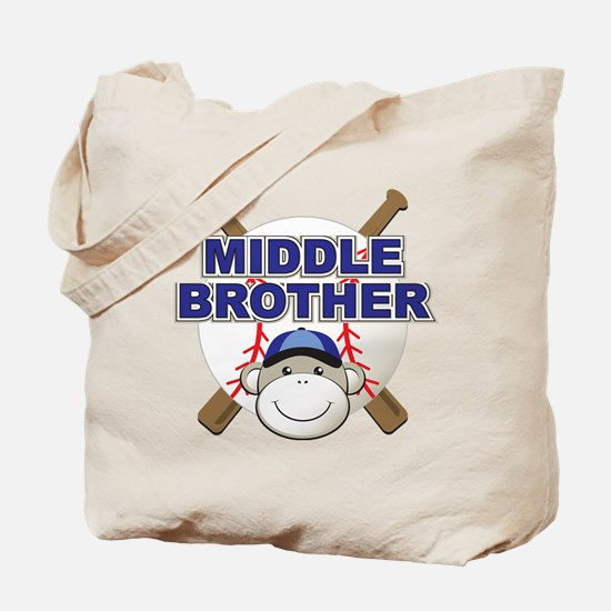 Middle Brother Baseball Tote Bag