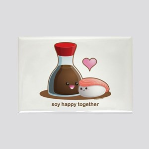 Soy happy together Rectangle Magnet