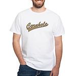 Cornhole Script White T-Shirt