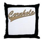 Cornhole Script Throw Pillow