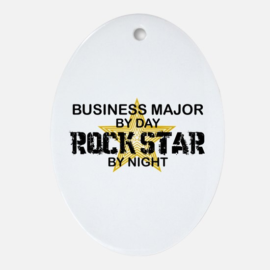 Business Major Rock Star by Night Oval Ornament