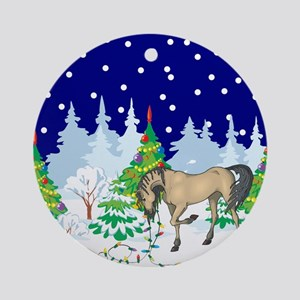 Christmas Lights Andalusian Ornament (Round)