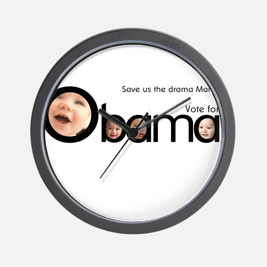 Babies for Obama Wall Clock