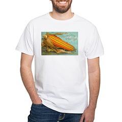 Corny Thanksgiving White T-Shirt