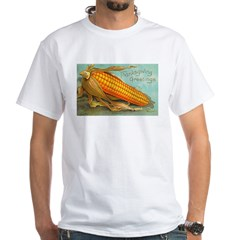 Corny Thanksgiving White T-Shirt