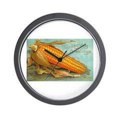 Corny Thanksgiving Wall Clock