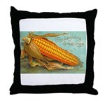 Corny Thanksgiving Throw Pillow