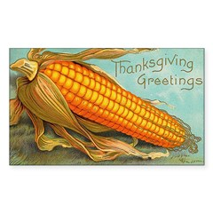 Corny Thanksgiving Rectangle Decal