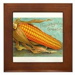 Corny Thanksgiving Framed Tile