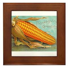 Corny Thanksgiving Framed Tile